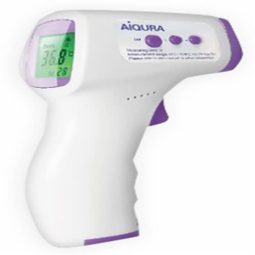 Infrared Contactless Thermometer Perspective: front