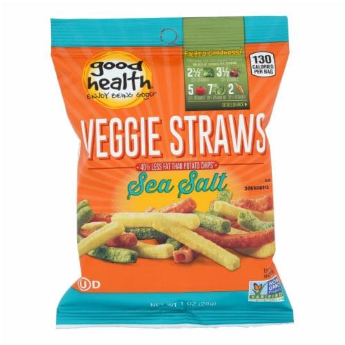 Good Health Veggie Straws - Sea Salt - Case of 24 - 1 oz. Perspective: front