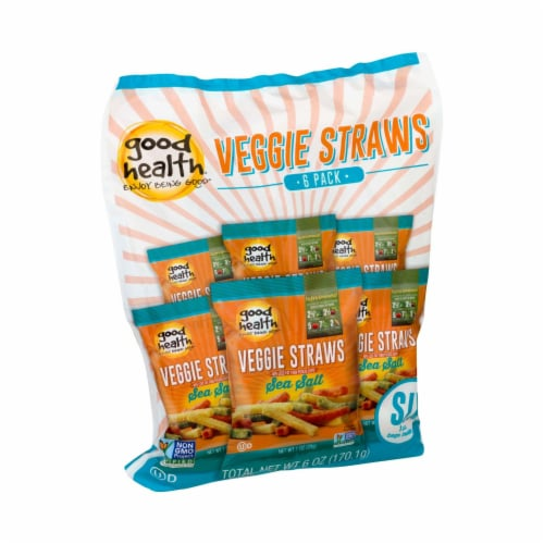 Good Health Veggie Straws - Sea Salt - Case of 8 - 1 oz. Perspective: front