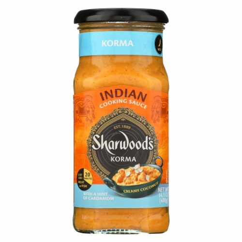 Sharwood Korma Cooking Sauce - Case of 6 - 14.1 Fl oz. Perspective: front