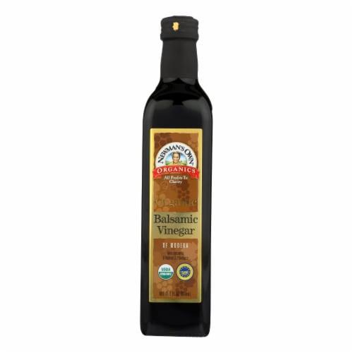 Newman's Own Organics Organic Balsamic - Vinegar - Case of 6 - 16.9 Fl oz. Perspective: front