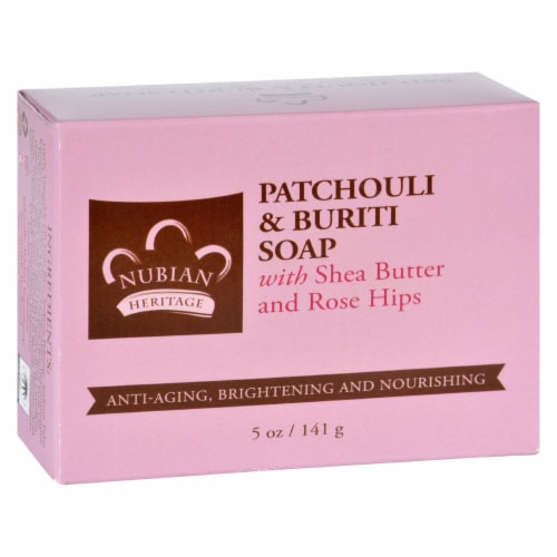 Nubian Heritage Bar Soap - Patchouli and Buriti - 5 oz Perspective: front