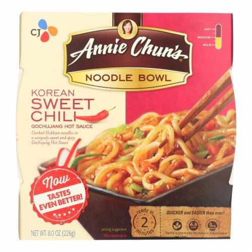 Annie Chun's Korean Sweet Chili Noodle Bowl - Case of 6 - 7.9 oz. Perspective: front