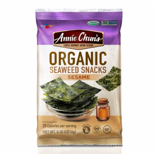 Annie Chun's Organic Sesame Seaweed Snacks Perspective: front