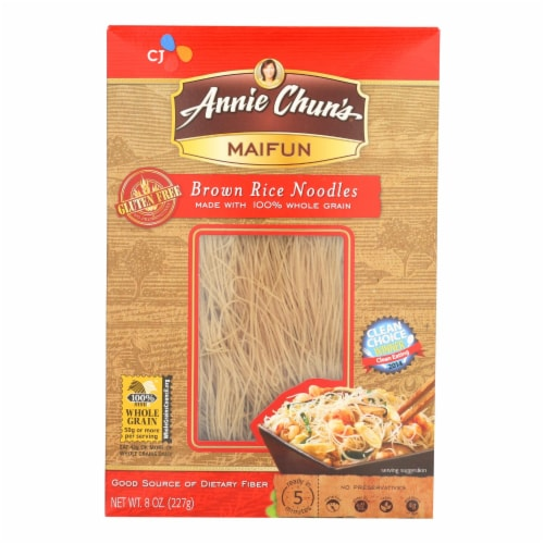 Annie Chun's Maifun Brown Rice Noodles - Case of 6 - 8 oz. Perspective: front