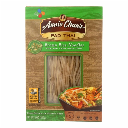 Annie Chun's Pad Thai Brown Rice Noodles - Case of 6 - 8 oz. Perspective: front