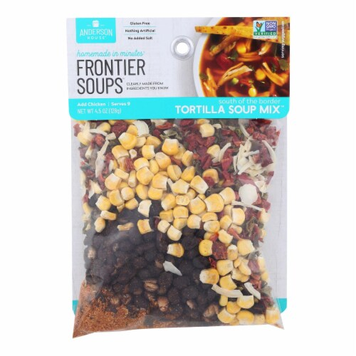 Frontier Soups South Of The Border Tortilla Soup Mix  - Case of 8 - 4.5 OZ Perspective: front