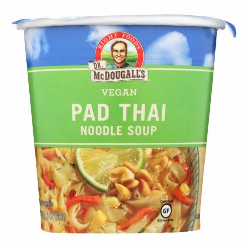 Dr. McDougall's Vegan Pad Thai Noodle Soup Big Cup - Case of 6 - 2 oz. Perspective: front