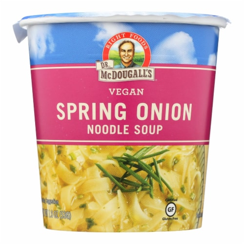 Dr. McDougall's Vegan Spring Onion Noodle Soup Big Cup - Case of 6 - 1.9 oz. Perspective: front