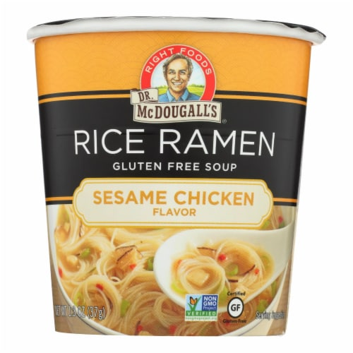 Dr. McDougall's Rice Noddle Asian Soup - Sesame Chicken - Case of 6 - 1.3 oz. Perspective: front