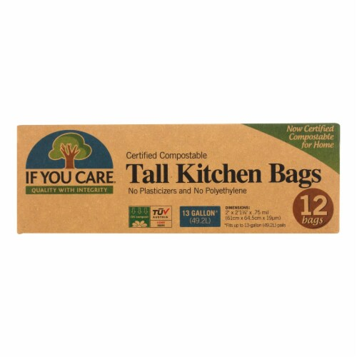 If You Care Trash Bags - Certified Compostable - Case of 12 - 12 Count Perspective: front