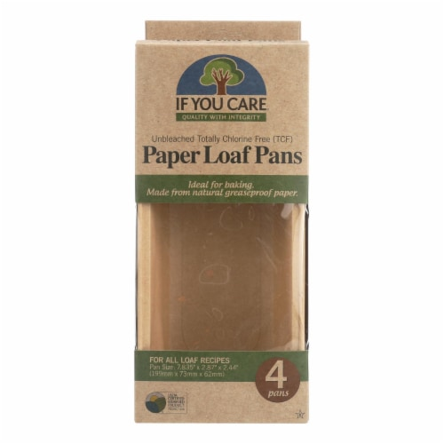 If You Care Loaf Baking Pans - Case of 6 - 4 Count Perspective: front