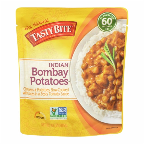 Tasty Bite Entree - Indian Cuisine - Bombay Potatoes - 10 oz - case of 6 Perspective: front