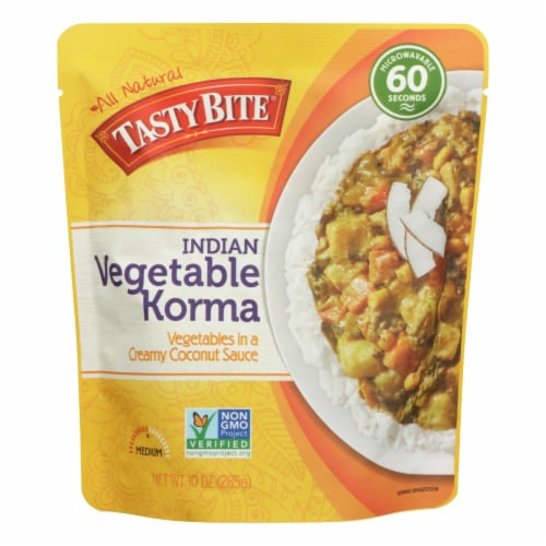 Tasty Bite Entree - Indian Cuisine - Vegetable Korma - 10 oz - case of 6 Perspective: front