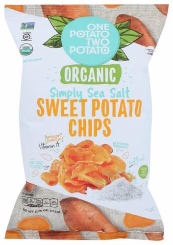 One Potato Two Potato Organic Simply Sea Salt Sweet Potato Chips, 5.75oz (Pack of 12) Perspective: front