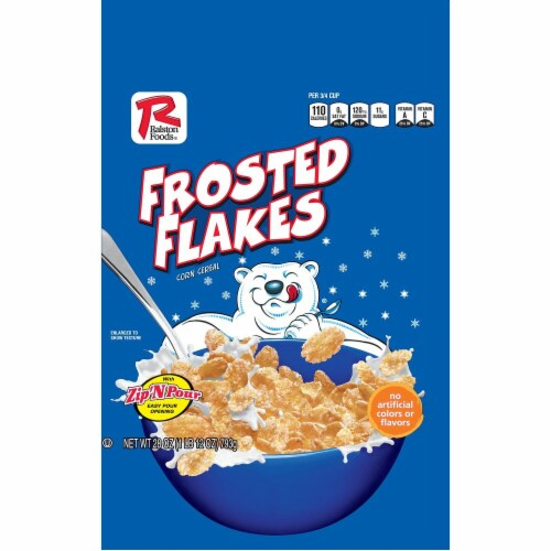 Ralston Foods Frosted Flakes Cereal, 28 Ounce -- 4 per case. Perspective: front