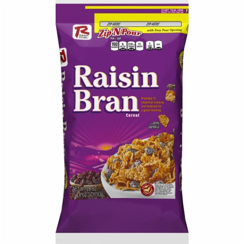 Ralston Foods Raisin Bran Cereal, 28 Ounce -- 4 per case. Perspective: front