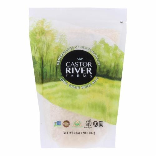 Castor River Farms - Rice White Long Grain - Case of 6-32 OZ Perspective: front