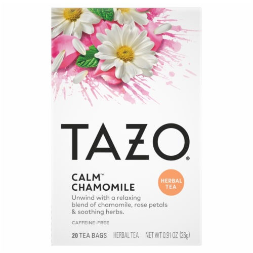 Tazo Decaf Calm Chamomile Tea (4 Pack) Perspective: front