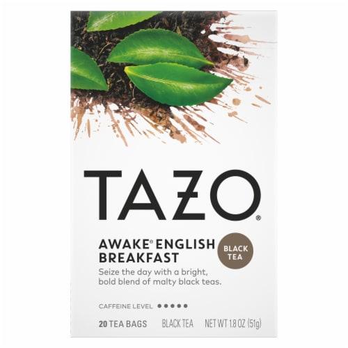 Tazo Awake English Breakfast Black Tea Bags Perspective: front
