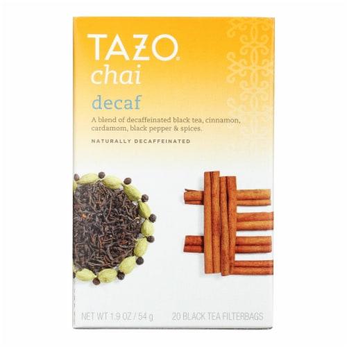 Tazo Tea Spiced Black Tea - Decaffeinated Tazo Chai - Case of 6 - 20 BAG Perspective: front