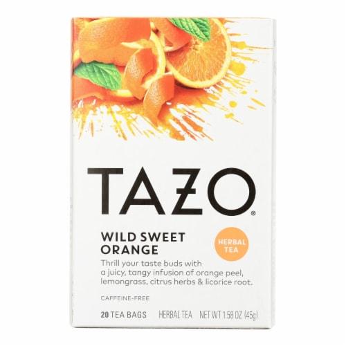 Tazo Tea Herbal Tea - Wild Sweet Orange - Case of 6 - 20 BAG Perspective: front