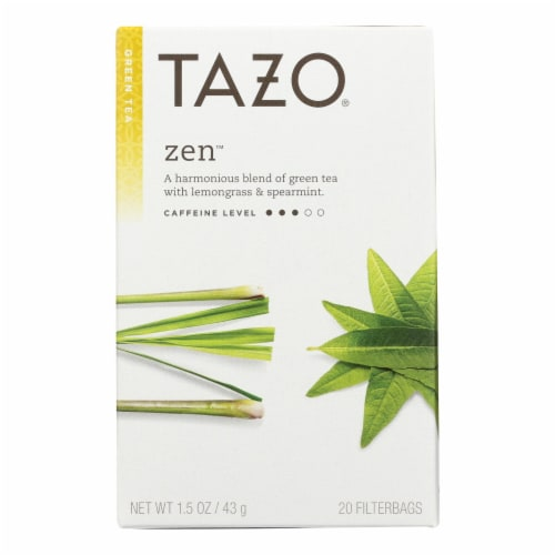 Tazo Tea Green Tea - Zen - Case of 6 - 20 BAG Perspective: front