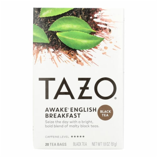 Tazo Tea Hot Tea - Awake English Breakfast Black Tea - Case of 6 - 20 BAG Perspective: front