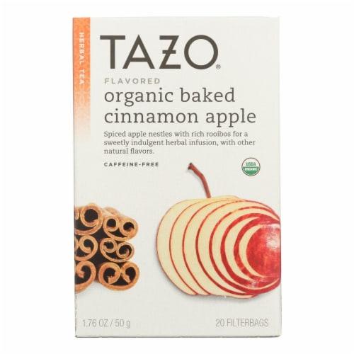 Tazo Tea Organic Tea - Hot Apple Red - Case of 6 - 20 BAG Perspective: front