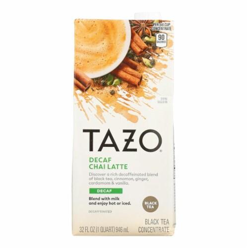 Tazo Tea Decaf Tea - Chai Latte - Case of 6 - 32 fl oz Perspective: front
