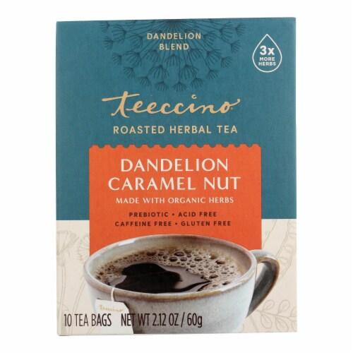 Teeccino Coffee Tee Bags - Organic - Dandelion Caramel Nut Herbal - 10 Bags Perspective: front