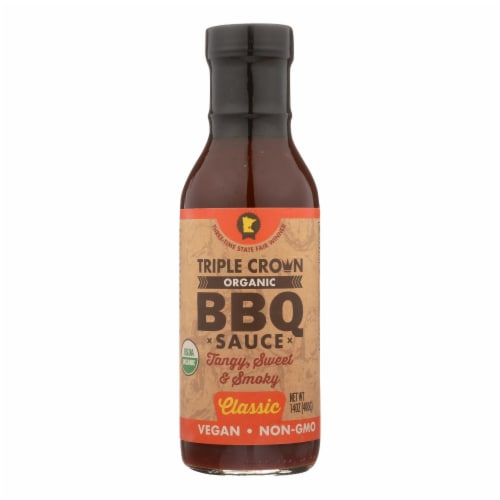 Triple Crown BBQ BBQ Sauce - Organic - Classic - Case of 6 - 14 fl oz Perspective: front