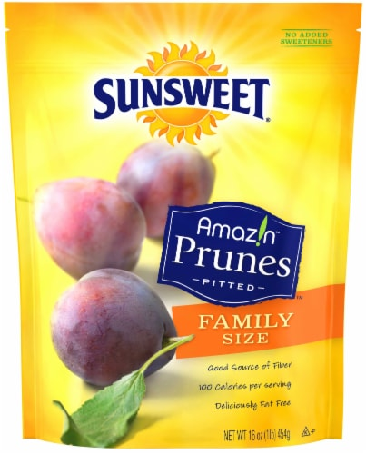 Sunsweet Pitted Prunes Family Size Perspective: front