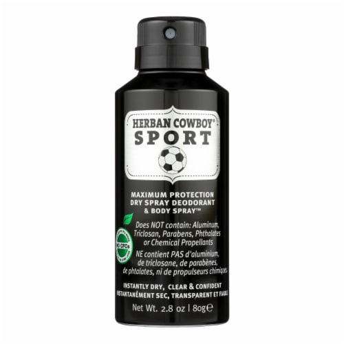 Herban Cowboy - Spray Dry Sport - 1 Each - 2.8 OZ Perspective: front