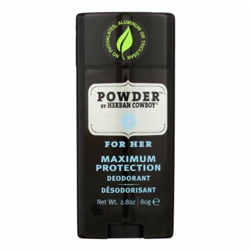 Herban Cowboy Deodorant Powder Scent - 2.8 oz Perspective: front