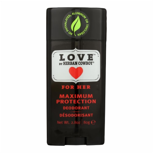 Herban Cowboy Deodorant - Love Maximum Protection - 2.8 oz Perspective: front