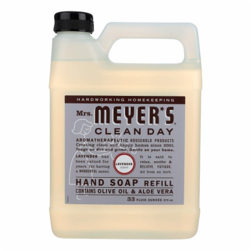 Mrs. Meyer's Clean Day - Liquid Hand Soap Refill - Lavender - Case of 6 - 33 fl oz. Perspective: front