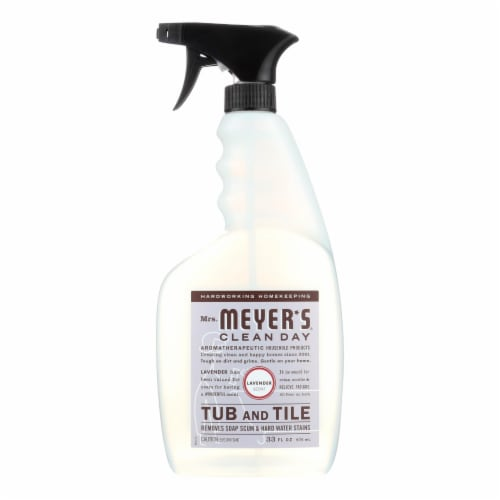 Mrs. Meyer's Clean Day - Tub and Tile Cleaner - Lavender- 33 fl oz Perspective: front