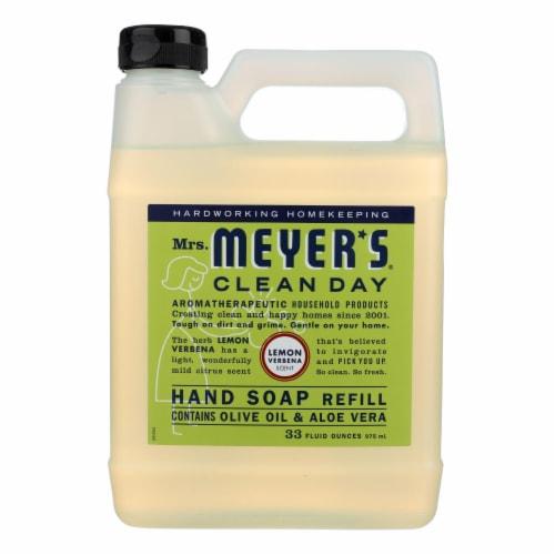 Mrs. Meyer's Clean Day - Liquid Hand Soap Refill - Lemon Verbena Perspective: front