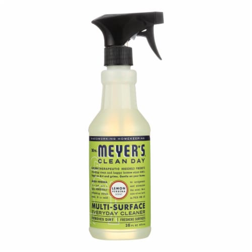 Mrs. Meyer's Clean Day - Multi-Surface Everyday Cleaner - Lemon Verbena - 16 fl oz Perspective: front