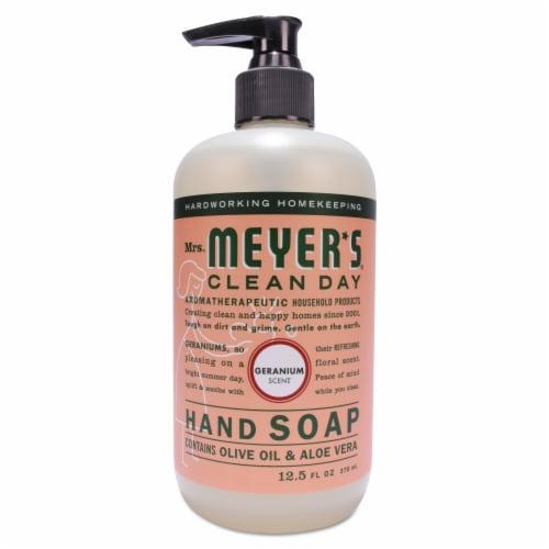 Mrs. Meyers Geranium Hand Soap, 12.5 OZ Perspective: front