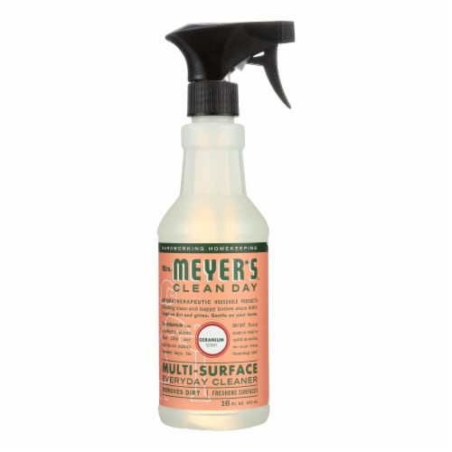 Mrs. Meyer's Clean Day - Multi-Surface Everyday Cleaner - Geranium - 16 fl oz Perspective: front