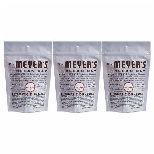 Mrs. Meyer's Clean Day - Automatic Dishwasher Packs - Lavender - 12.7 oz Perspective: front