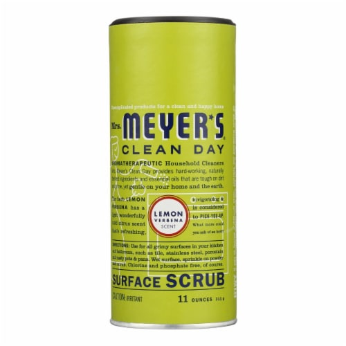 Mrs. Meyer's Clean Day - Surface Scrub - Lemon Verbena - Case of 6 - 11 oz Perspective: front