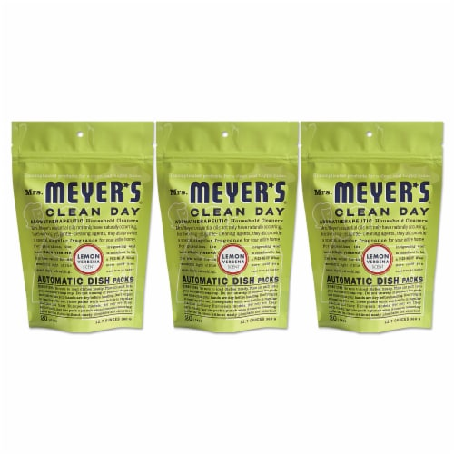 Mrs. Meyer's Clean Day - Automatic Dishwasher Packs - Lemon Verbena - 12.7 oz Perspective: front