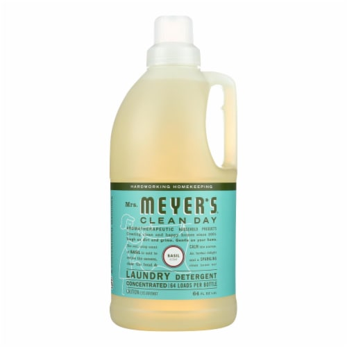 Mrs. Meyer's Clean Day - 2X Laundry Detergent - Basil - Case of 6 - 64 oz Perspective: front