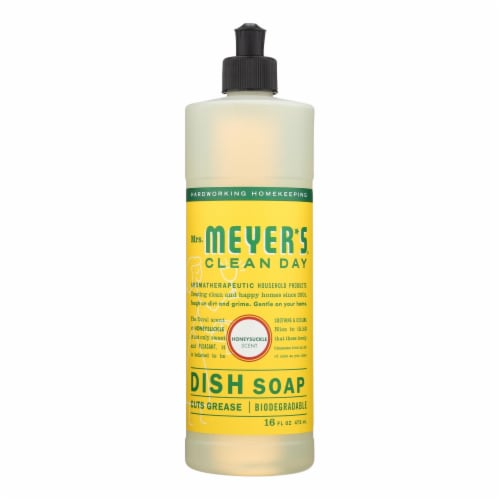 Mrs. Meyer's Clean Day - Liquid Dish Soap - Honeysuckle - 16 oz Perspective: front