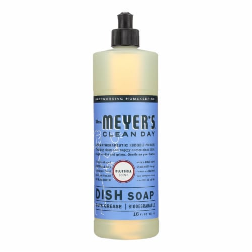Mrs. Meyer's Clean Day - Liquid Dish Soap - Bluebell - Case of 6 - 16 oz Perspective: front