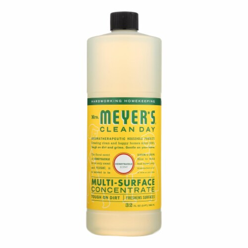 MRS. MEYERS CLEAN DAY HONEYSUCKLE MULTI-SURFACE CONCENTRATE, 32 FL. OZ. Perspective: front