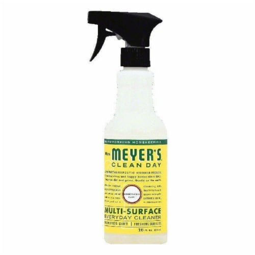 Mrs Meyers Honeysuckle Scent Multi-Surface Everyday Cleaner, 16 OZ (Pack of 6) Perspective: front